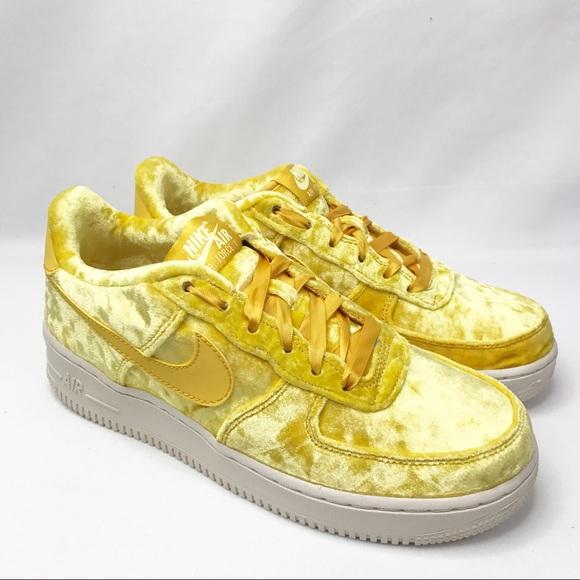 Nike Air Force 1 Yellow Velvet NWT